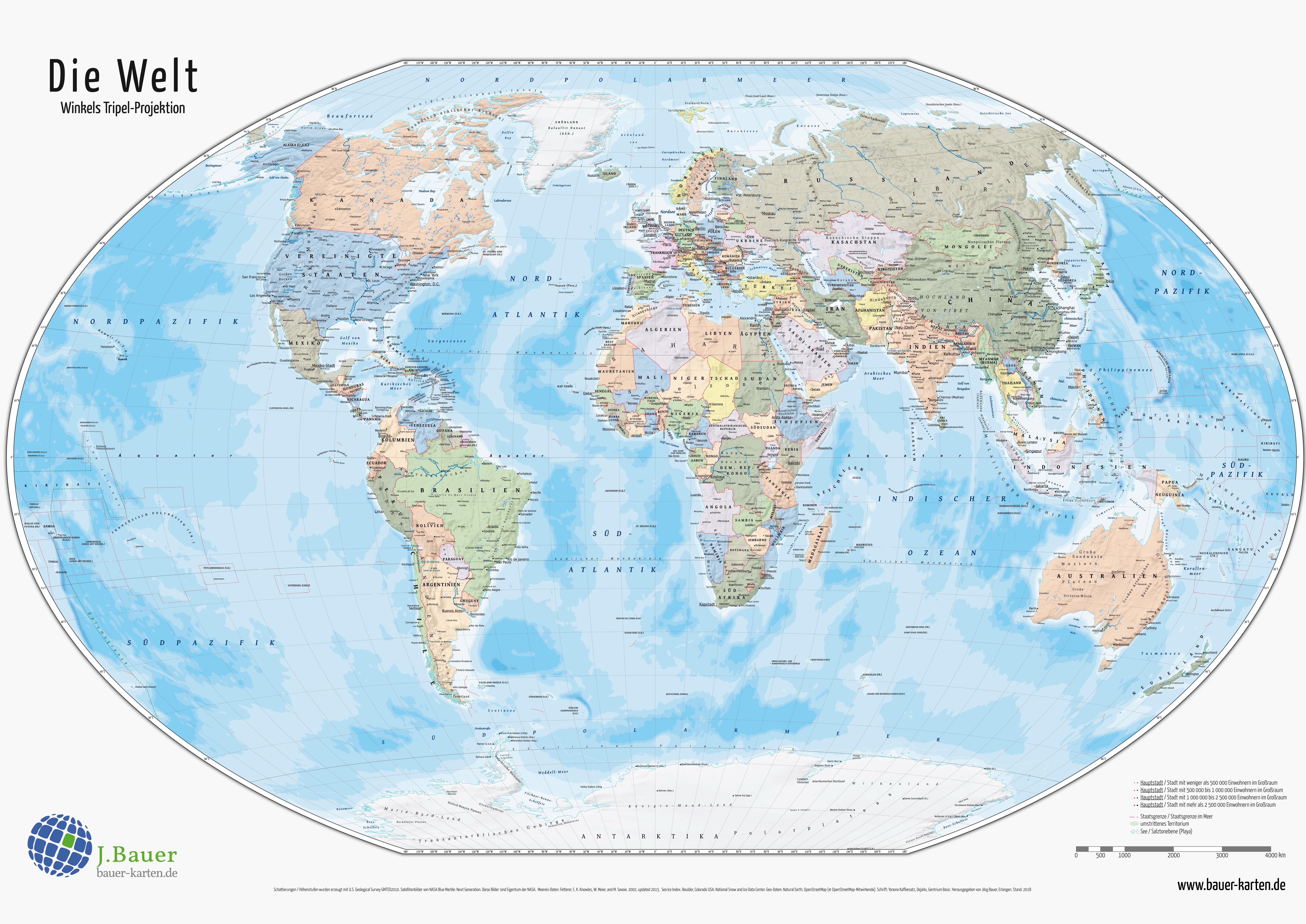 Weltkarten zum Herunterladen und Ausdrucken