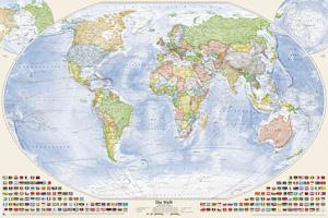 Politische Weltkarte, 150x100 cm, deutsch