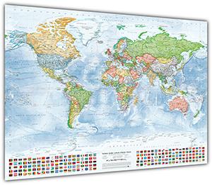 Politische Weltkarte, 100 x 70 cm