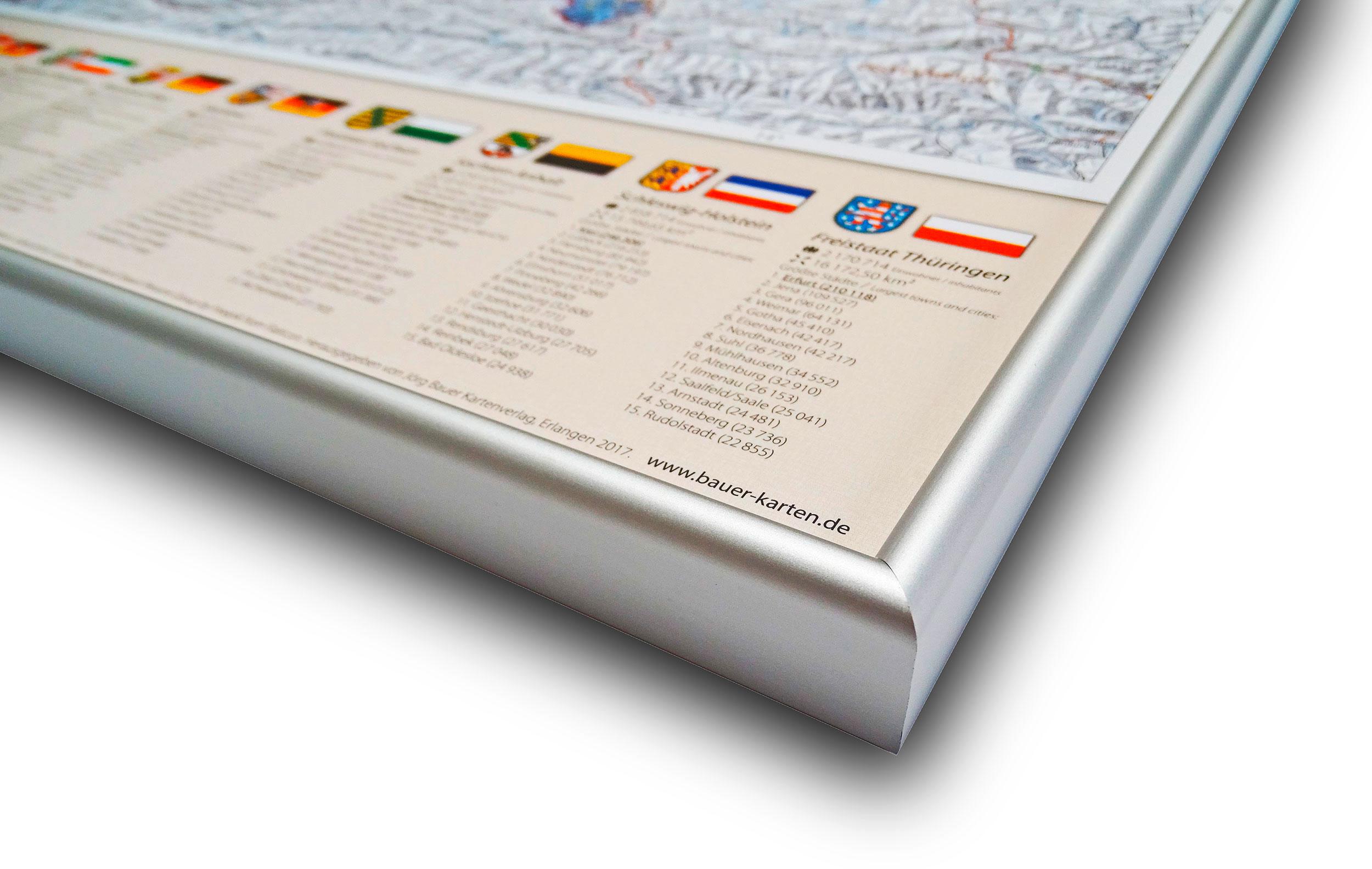 Deutschland-Karte Politisch (Bundesländer), 80 x 120 cm, Pinnwand im ...
