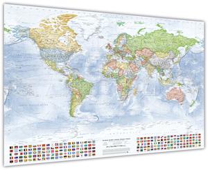 Politische Weltkarte (englisch)
