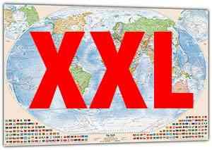 XXL-Weltkarten
